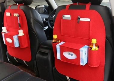 Large 54*40cm Car Seat Back Felt Storage Boxes Easy Installation And Removing