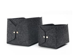 43 Colors Soft Felt Storage Boxes High Durability With Zipper Pocket
